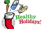 Healthy holidays illustration